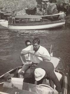 Capri 1959 Clark Gable a Marina Piccola - foto di Valerio Di Domenico