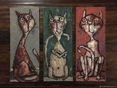 Купить Миниатюрные котики в интернет-магазине на Ярмарке Мастеров, цена: 7500 ₽. Товары ручной работы с доставкой по России и СНГ. ✓Описание, фото ✓Отзывы реальных покупателей Cat Art, Cats, Gatos, Cat, Kitty, Kitty Cats