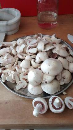 Field mushrooms found in the lawn near Sainsbury in Kirkintilloch, Glasgow.