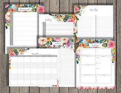Home Organization Planner printable set includes calendars, to do list, note paper, and a daily summary. Household printables by Chaos Made Simple.
