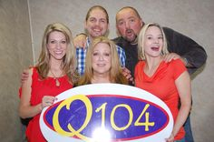Nicole with Q104's morning crew and comedian, Elayne Boosler! Cleveland, Ohio