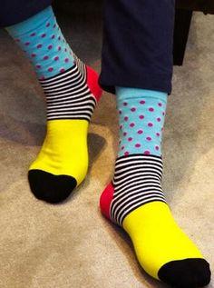 men coloured business socks