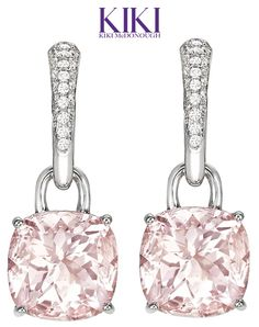 In the jewelry category we saw the Kiki McDonough Pink Morganite Earrings ….