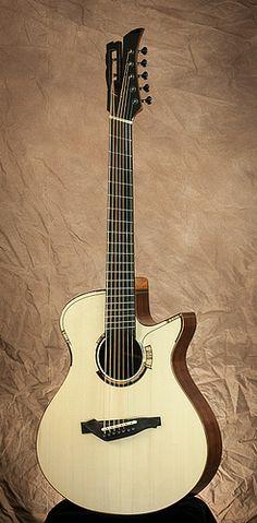 Matsuda guitar #88 7 string acoustic guitar