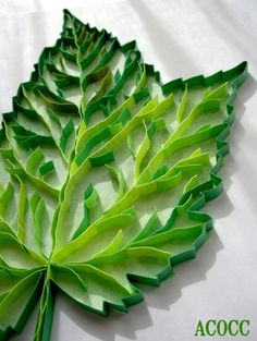 Maple Leaf  Paper Quilling & Watercolour   Series Leaves by aCoCC, $65.00