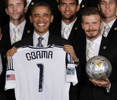 Gallery: David Beckham and MLS Champion Los Angeles Galaxy Visit the White House: DCist