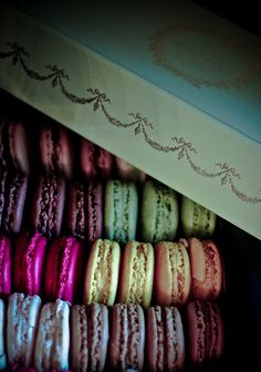 Macarons.... from the famous pastry store in Paris. To die for - first hand. ;)