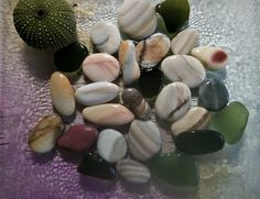 Colorful sea stones. Natural sea pebbles .Mix sea glass 26 pieces. Beach finds. Beach Stones, Mosaic Tiles, Sea Glass, No Response, Pottery, Colorful, Natural, Handmade, Crafts