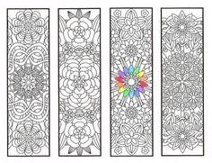 Coloring Bookmarks  Flower Mandalas Page 1  by CandyHippie on Etsy-Coloring pages colouring adult detailed advanced printable Kleuren voor volwassenen coloriage pour adulte anti-stress kleurplaat voor volwassenen