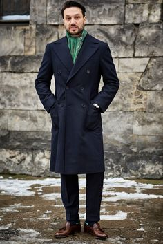 Zaremba Bespoke Polo Coat made with Caccioppoli fabric