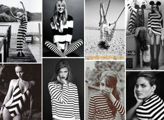 stripes black white