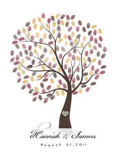 finger print tree- great for wedding, baby shower, house warming or any event's guestbook for that matter.