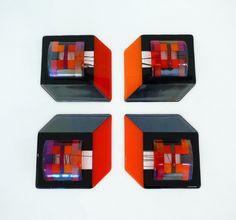 Wall sculpture Bullseye glass #glaskunst #design #kunst #glasfusing #glassart #wall art #fused glass