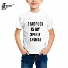 >> Click to Buy << 2-12Years Boys Girls T-shirt Deadpool Letter Print Children Clothes Popular Summer White Tshirt Casual Street Kids Tops EH1106 #Affiliate