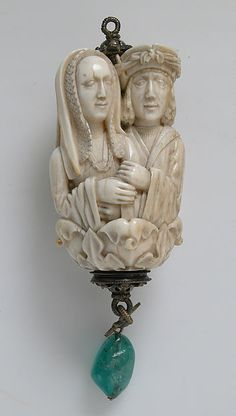 Rosary landing bead of lovers and Death,  ca. 1500–1525. The Metropolitan Museum of Art, New York. Gift of J. Pierpont Morgan, 1917 (17.190.305)