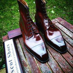 - Vass Model: High ToeCap Boots Colour: Antique Cognac Calf Last: K (Karl) last
