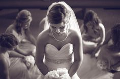 bridal party with bride at wedding photography by amanda whitley