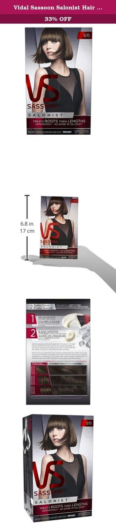 Vidal Sassoon Salonist Hair Colour Permanent Color Kit Medium Neutral Brown - All For Diy and Crafts Neutral Blonde, Dark Blonde Hair, Hair Color Dark, Hair Colour, Vidal Sassoon Hair Color, Red Violet Hair, Sparkle Makeup, Medium Brown Hair, Make Up Braut