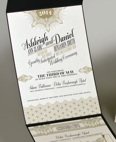 Art Deco Invitation. $20.00, via Etsy.