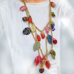Funky Crocheted Necklace by subrosa123 on Etsy, €50,00