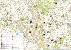 Download a printable Rome tourist map showing the best sights and attractions.