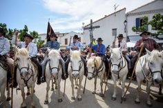 Annual Roma pilgrimage at Saintes-Maries-de-la-Mer – in pictures. Gardians  wait on horseback 22bedaa73a6