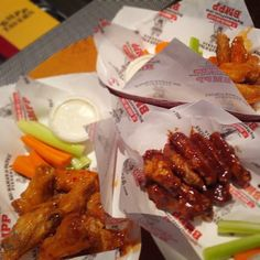 When the game is on… it's wing time! Pro Tip: Order delivery online 7 times and get a large 2 topping pizza for free! Pizza Sides, Wing Wednesday, Pizza Coupons, California Restaurants, Buffalo Wings, Mamas And Papas, Sweet Chili, Tasty Dishes, Chicken Wings