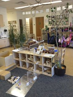 images of reggio inspired classrooms | reggio inspired learning spaces A safety mirror to use as a surface for building with blocks! Brilliant!
