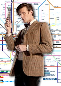 """""""Interactive Doctor Who infographic that breaks down the storylines of each incarnation of the Doctor. One of the coolest things about it is that it's done in the style of the London Underground map."""""""