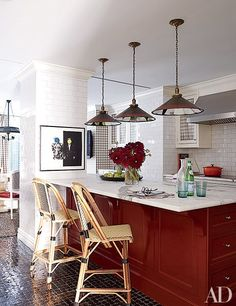 17 Colorful Painted Kitchen Cabinets Photos | Architectural Digest