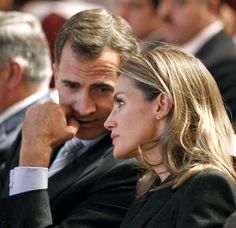Spain's Prince Felipe and Princess Letizia.