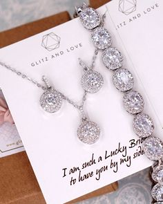 bridal sets & bridesmaid jewelry sets – a complete bridal look Bridesmaid Bracelet, Bridesmaid Jewelry Sets, Wedding Bracelet, Bridesmaid Proposal, Bride Earrings, Gemstone Earrings, Drop Earrings, Silver Earrings, Silver Bracelets