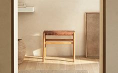 Banquettes, Living Room Stools, Home Living Room, Zara Home Bathroom, Zara Home Canada, Zara Home Collection, Leather Stool, Living Room Furniture, Home Accessories