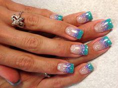 Blingy summer nails <3