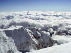 The view from the peak of Mount Everest