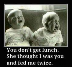 Twin humor!
