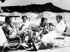 The Disney Family in Hawaii, 1939. Walt made two visits to Hawaii in the '30s (in 1934 and 1939). This photo is of Roy, Edna, Lillian, and Walt.