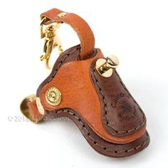 Saddle Keychain: SELLA - Italian Leather Saddle Keychain, a perfect gift for cowboys