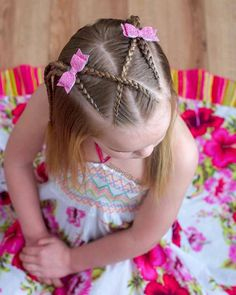 65 young girl's braid hairstyles mother could try for their princess - Page 20 of 32 - Beautrends Lil Girl Hairstyles, Kids Braided Hairstyles, Teenage Hairstyles, Girl Hair Dos, Kid Braid Styles, Girls Braids, Toddler Hair, Twist Braids, Natural Hair Styles
