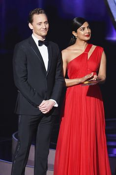 Tom Hiddleston and Priyanka Chopra present Outstanding Directing for a Limited Series, Movie or Dramatic Special during the 68th Emmy Awards at Microsoft Theater 18.9.2016, Los Angeles From http://tw.weibo.com/torilla/4021356209896211