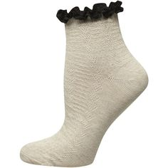 Dorothy Perkins Oat Contrast Lace Top Socks (3.45 AUD) ❤ liked on Polyvore featuring intimates, hosiery, socks, beige, beige socks, lace ankle socks, lace socks, lacy socks and ankle socks