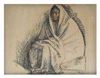 Mujer envuelta en rebozo by Francisco Zúñiga