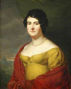 (1800-1820) Portrait of Rose-Henriette Peronne de Sercey, Baroness de Finguerlin, Francois Gerard, oil on canvas, 1815.
