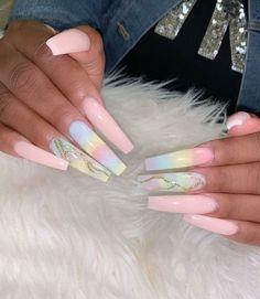 nails - 85 Winter Nail Art Design Ideas Make You Beautiful in 2019 HowAZ Part 57 Acrylic Nails Natural, Best Acrylic Nails, Acrylic Nail Designs, Nail Art Designs, Winter Acrylic Nails, Long Nail Designs, Natural Nails, Winter Nail Art, Winter Nails