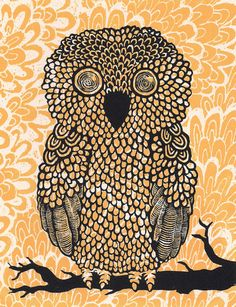 Owl Art Print by Amanda James