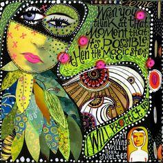 Art Journaling 101: Spotlight on Teesha Moore's Blog | Studio Tangie