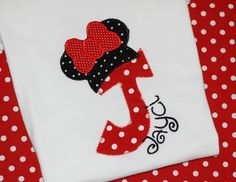 Girls personalized birthday Disney minnie mickey mouse shirt with number or letter monogram. $21.00, via Etsy.