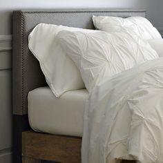 The Crawford Clan: Master Bedroom: DIY nailhead upholstered headboard tutorial