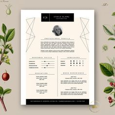 fashion resume template cover letter 2 page resume design minimal resume template - Free Mac Resume Templates