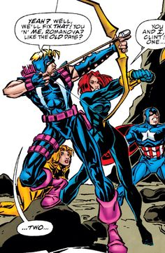 Hawkeye & Black Widow Clintasha, Graphic Novel Art, Super Soldier, Jeremy Renner, The Old Days, Comic Page, Dc Heroes, Hawkeye, Steve Rogers